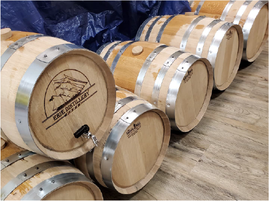 Erie Distillery Barrels