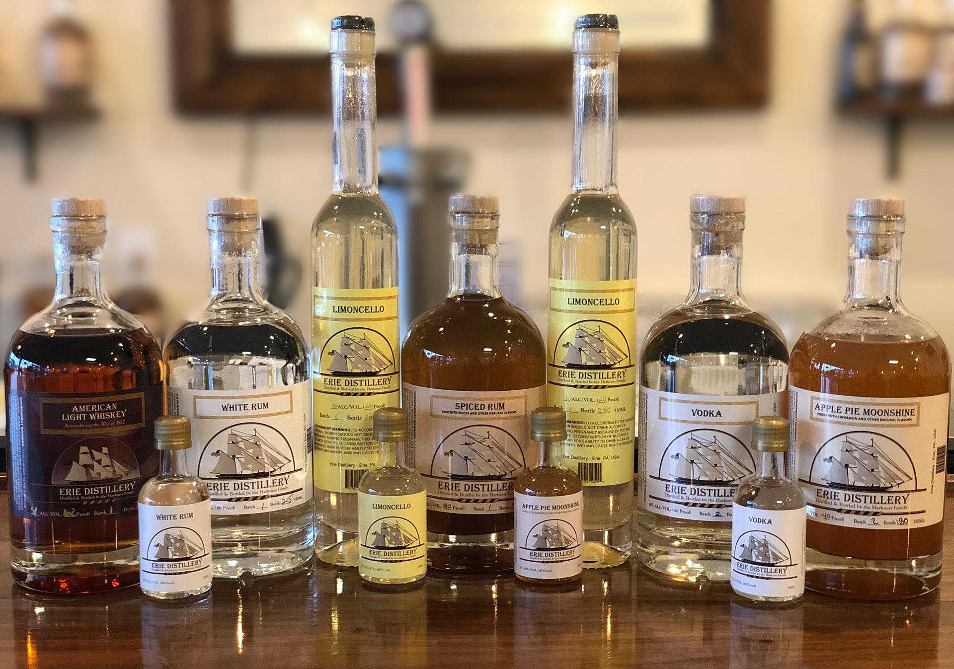 Erie Distillery Spirits